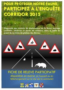 affiche Corridor plateau des bornes version 2015