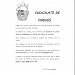 chocolats de Pacques